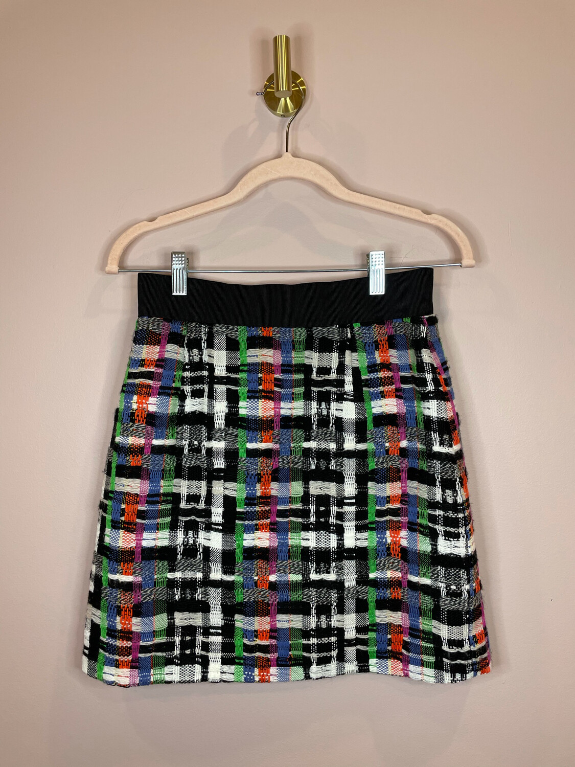 Milly Black & White Skirt w/Color Accent - Size 4