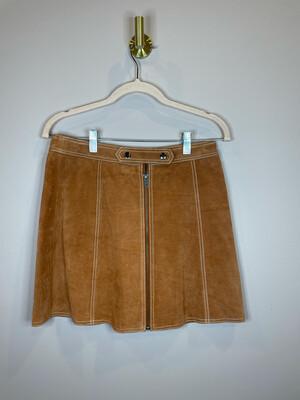 Topshop Camel Suede Skirt w/Zipper - Size 6