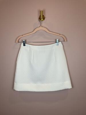 Top Shop White Textured Skirt w/Zipper - Size 4