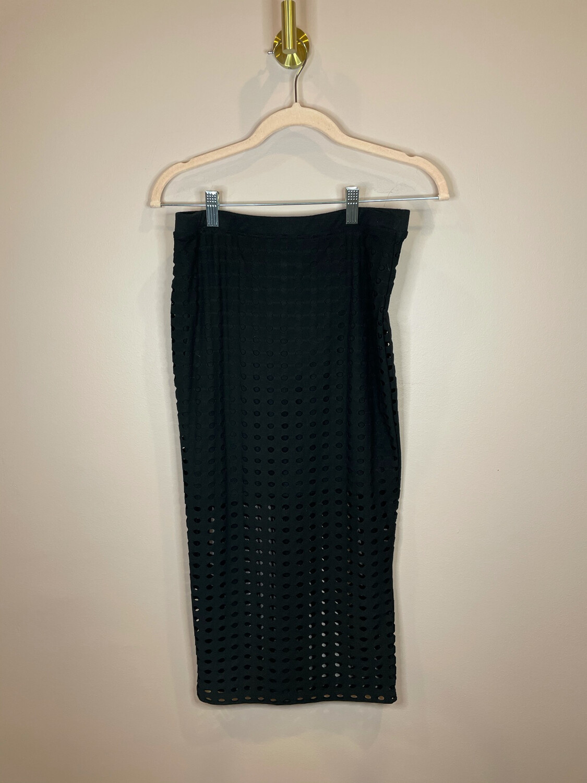T Alexander Wang Black Skirt w/Cut Out Accent - S
