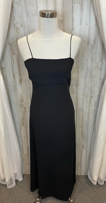 Ann Taylor Black Dress w/Pleated Detail - Size 2