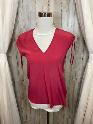 Joie Pink Tie Sleeve Top - XS