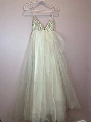 FP Limited Edition Lace & Sequence Cream Tulle Dress - Size 4