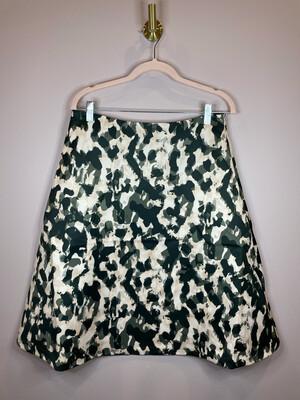 H&M Peach & Olive Print Skirt - Size 10