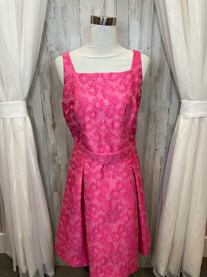 W by Worth Pink Embroidered Dress - Size 8