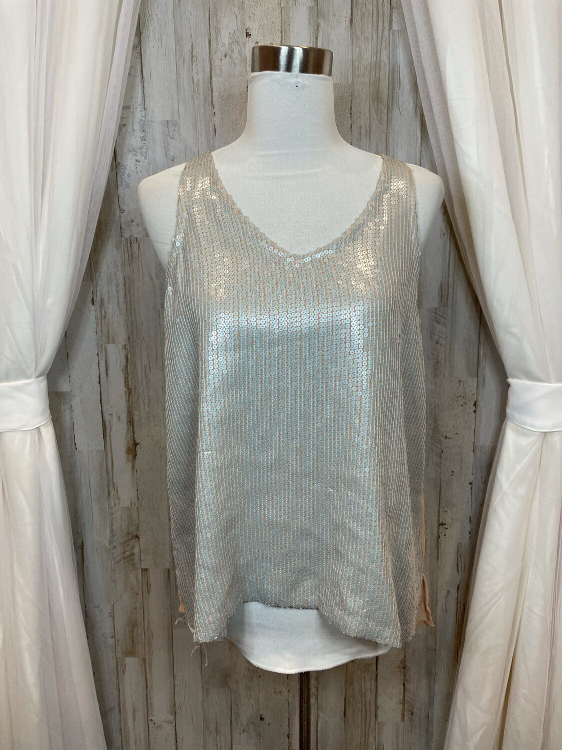 Piperlime Collection Silver Sequence Tank - S