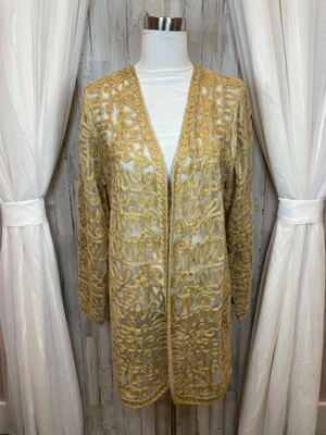 Chico's Camel Sheer Cardigan - Size 2