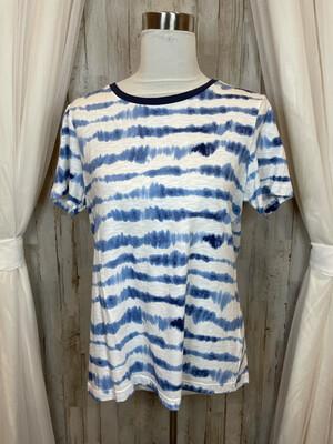 Tommy Hilfiger Ble & White Tie Dye Top - L