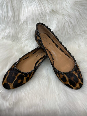 Jessica Simpson Leopard Print Flats - Size 9