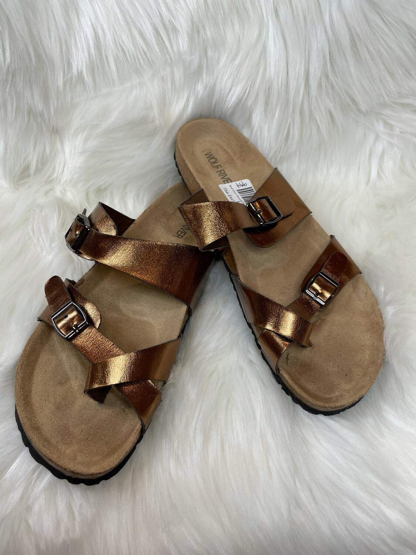 Wolf River Bronze Metallic Sandals - Size 11