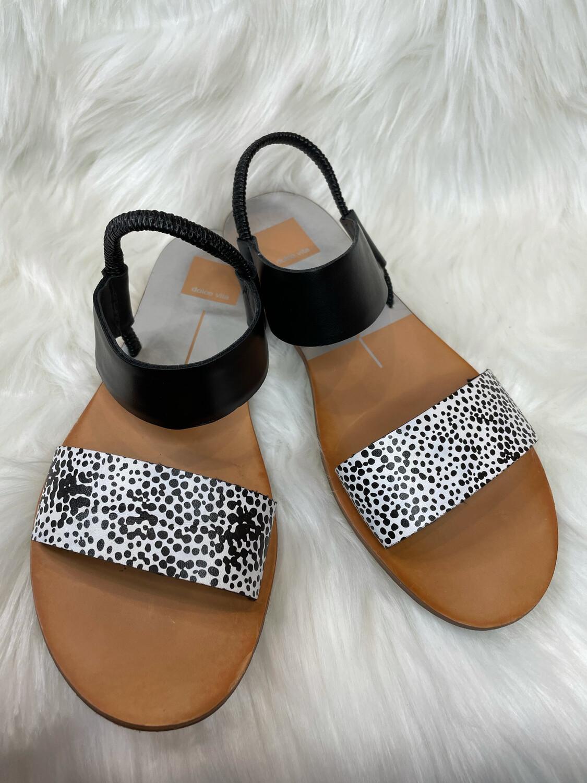 Dolce Vita Black Animal Print Sandals - Size 8