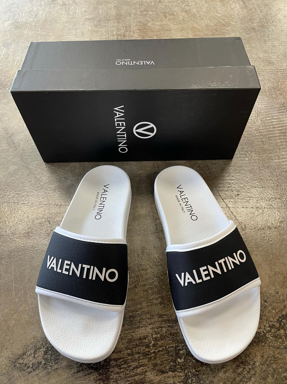 Valentino Black & White Slides - Size 7