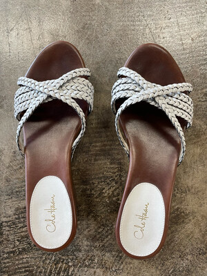 Cole Haan White Braided Sandals - Size 6.5