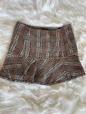 Theory Multi Tweed Raw Hem Skirt - Size 2