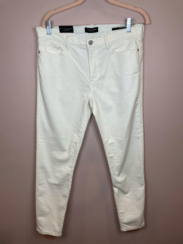 Banana Republic White Skinny Jean - Size 30