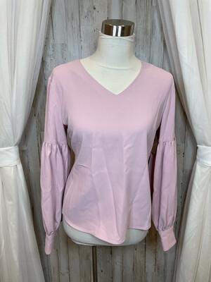 Rachel Parcell Pink Bubble Sleeve Blouse - M