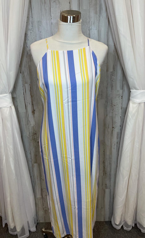 Madison Colorful Striped Dress - L