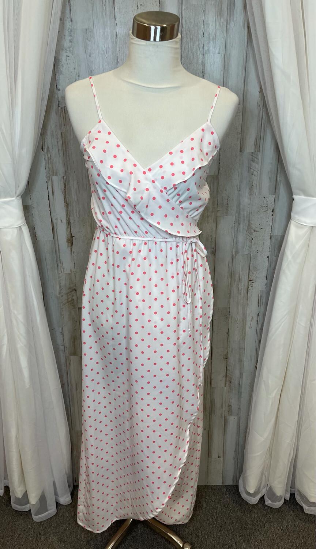 GB White & Pink Polka Dot Dress - XS