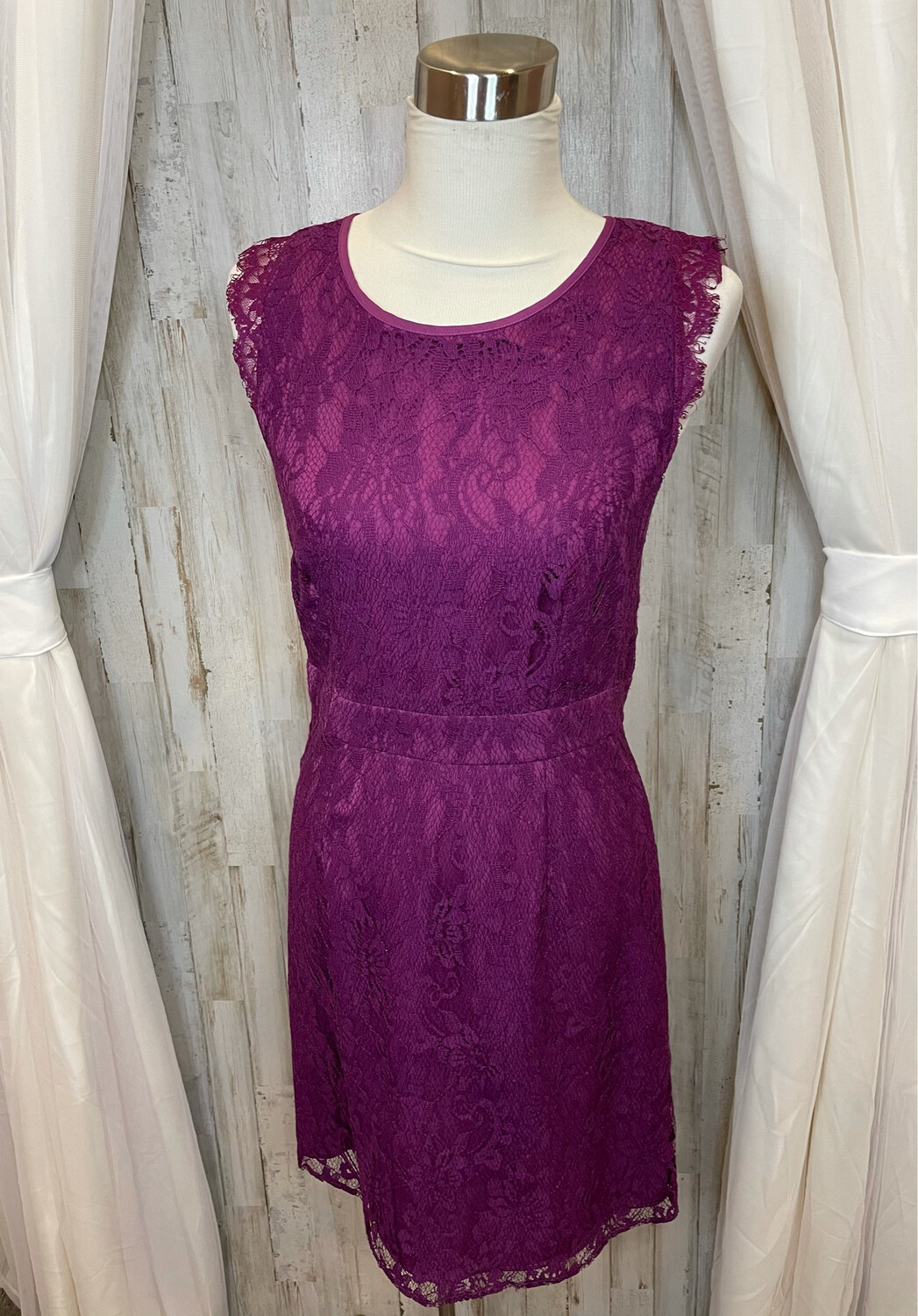 Brixon Ivy Purple Lace Dress - M