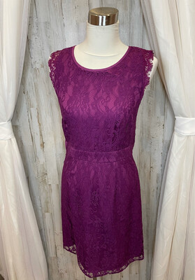 Brixon Ivy Purple Lace Dress - M