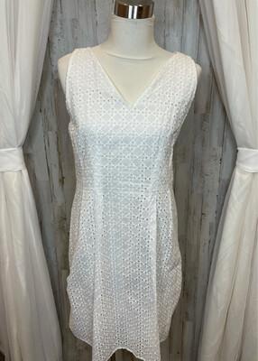 Ann Taylor White Eyelet Dress - Size 10P
