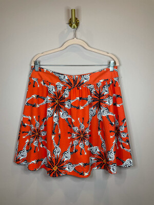 Crown & Ivy Orange Giraffe Skirt - Size 12