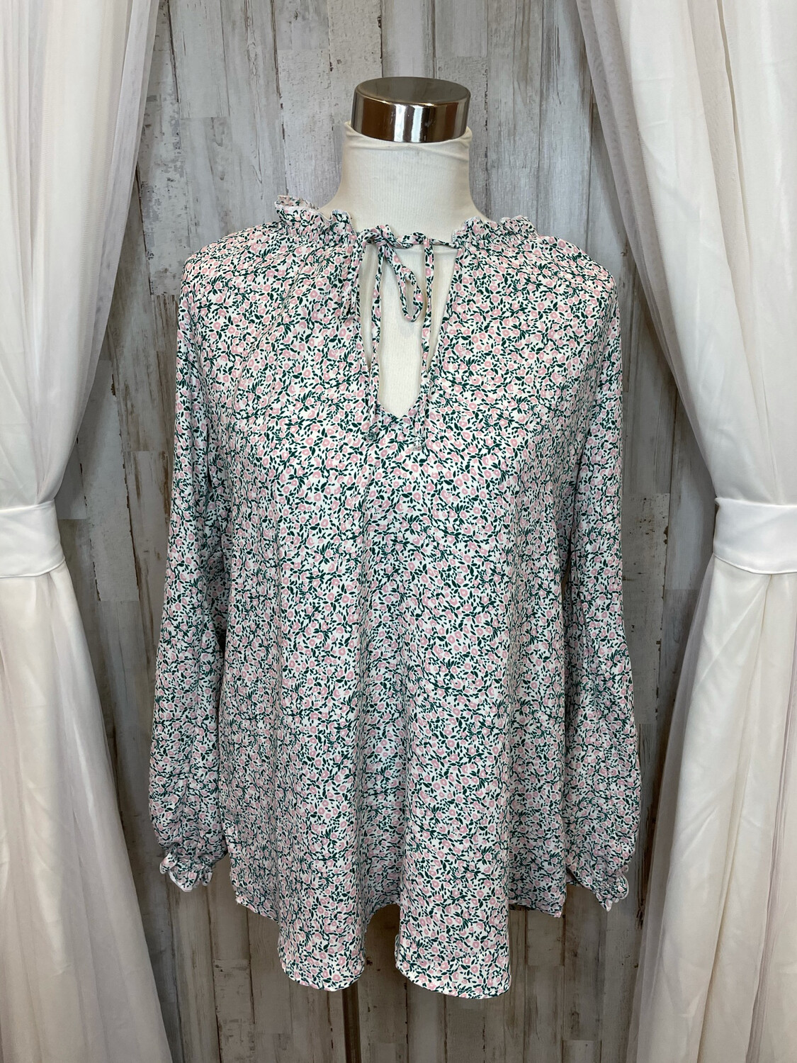Show Me Your Mumu Floral Long Sleeve Tunic - S
