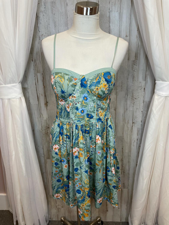 Chance & Destiny Green Floral Print Tank Dress - XL