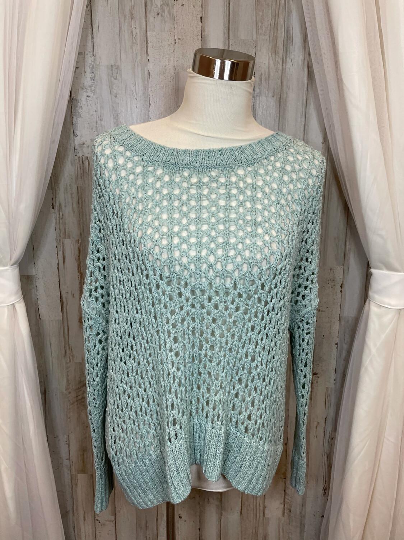 Karen Kane Aqua Sweater - L