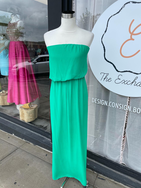 Express Green Strapless Maxi Dress - XS