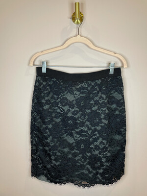 LOFT Black Lace Skirt - Size 6