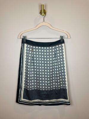 Ann Taylor Black Print Skirt - Size 0P