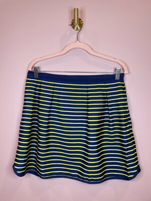 Pim Larkin Lime & Navy Striped Skirt - M
