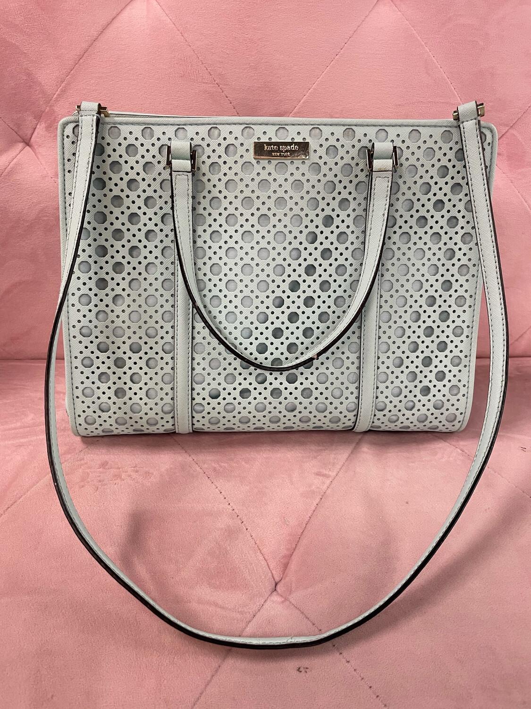 Kate Spade Mint Patterned Handbag w/ Long Strap