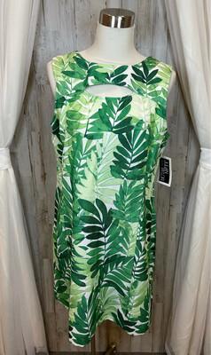 Julian Taylor Green Fern Dress - Size 16