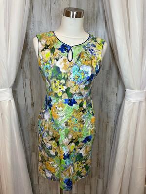 Land's End Multicolor Floral Print Pocket Dress - Size 8P