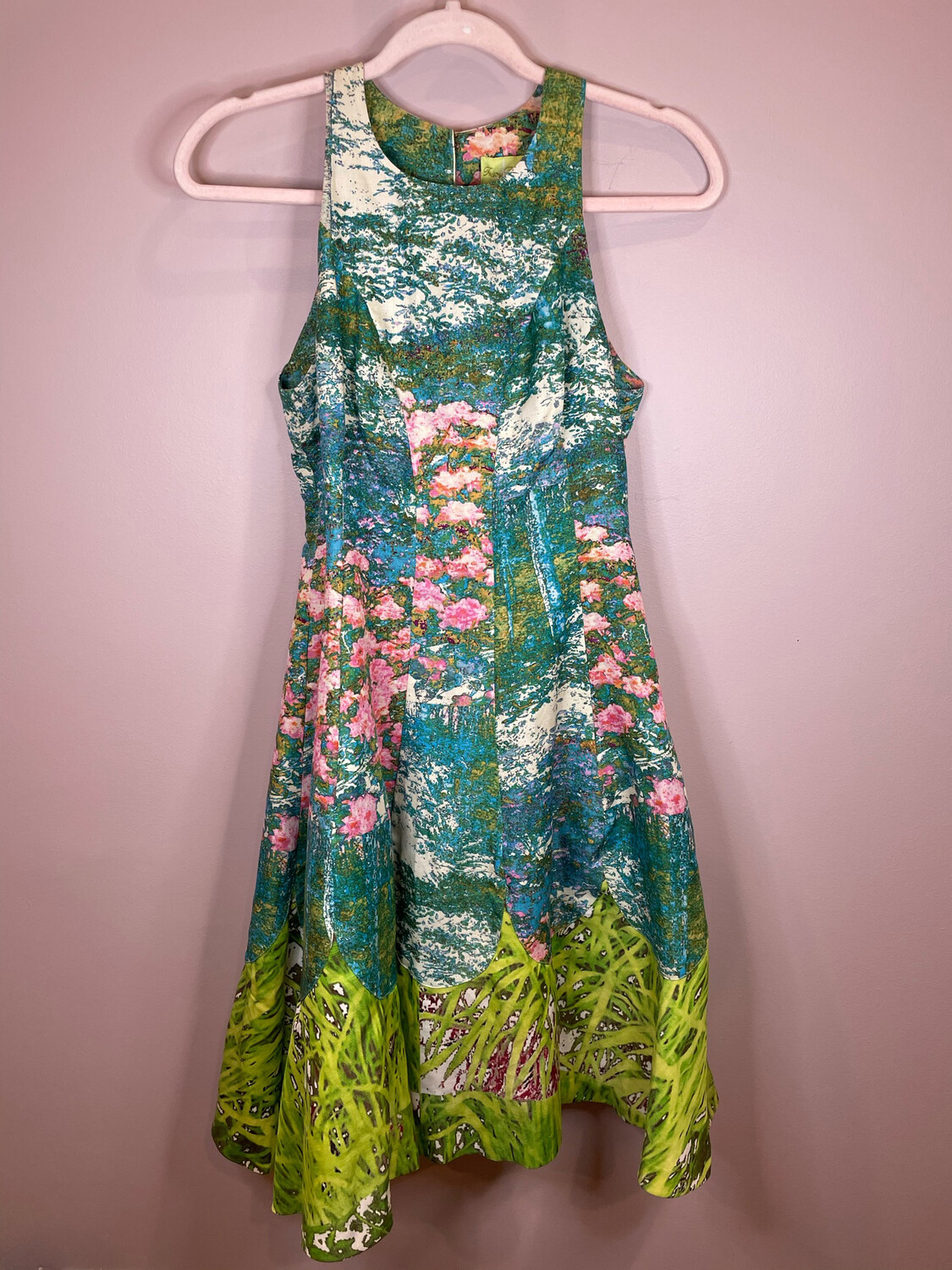 Tracy Reese Multicolor Floral Print Paneling Dress - Size 2