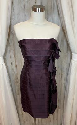 Ann Taylor Plum Tiered Dress - Size 4