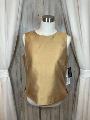 Josephine Chaus Gold Demask Top - Size 12P