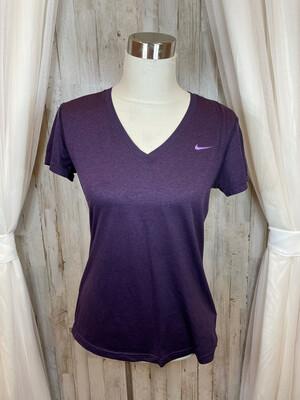 Nike Dri-Fit Purple V-neck Top - M