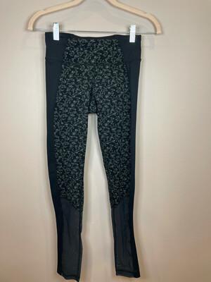 Tonic Black & Grey Floral Leggings - XS