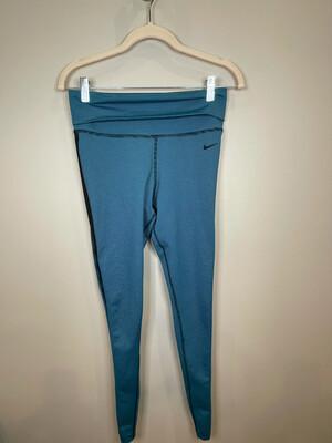 Nike Blue & Black Striped Leggings - S