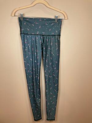 Teeki Blue Floral & Stars Leggings - S