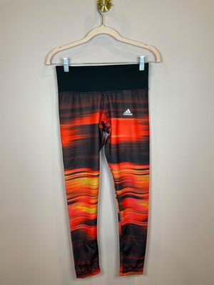 Adidas Techfit Brown & Red Patterned Leggings - S