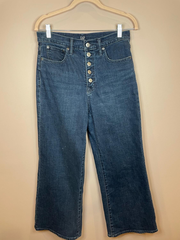 Gap High Rise Wide Leg Jeans - Size 27
