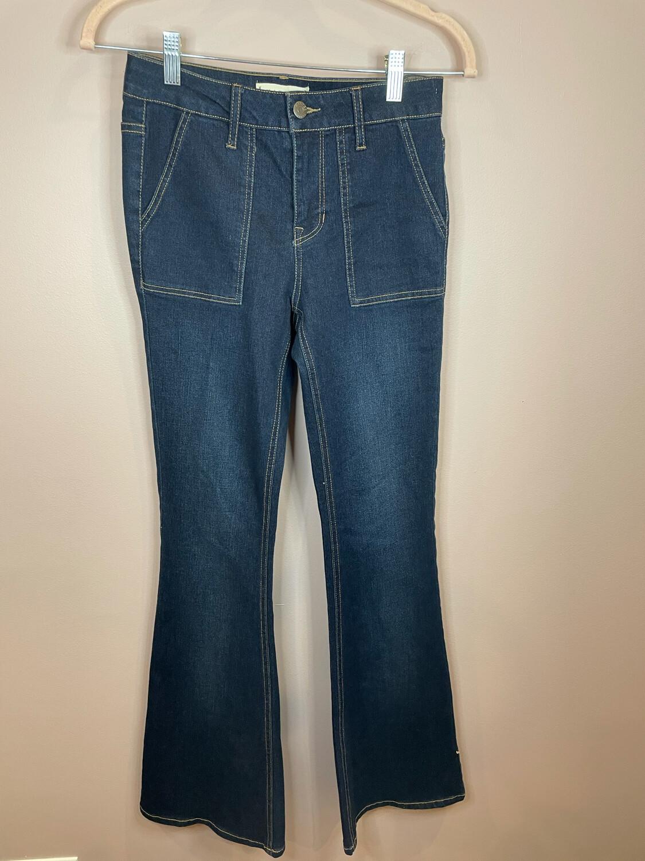 Harper Heritage Mid Rise Dark Denim Jeans - Size 25