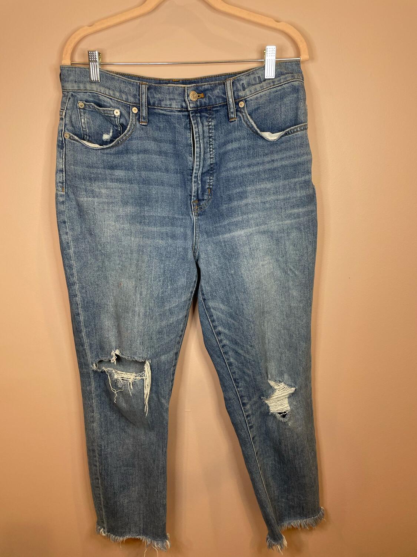Madewell Distressed Raw Hem Perfect Vintage Jeans - Size 31