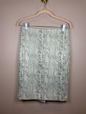 Ann Taylor Snakeskin Skirt - Size 0