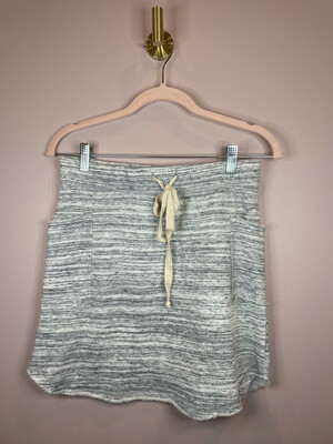 Young Heart Heather Grey Drawstring Skirt - S