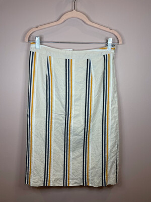 Who What Wear Light Tan Striped Skirt - Size 2